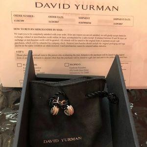 David Yurman Cable Classic Earrings with diamonds